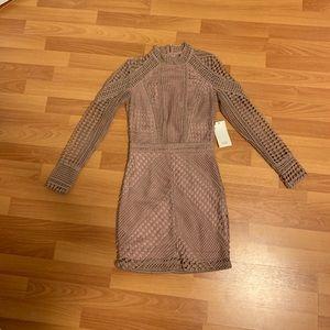 Tobi Nude Long Sleeve Dress